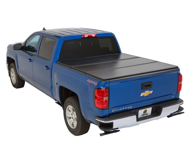 Bestop Ez Fold Hard Tonneau Cover For 2014 2018 Chevy Gmc Silverado Sierra 1500 Without Cargo Management System 5 5 Ft Bed