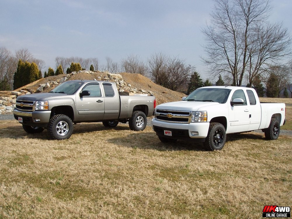 Two Lifted Chevy 1500s for Muller Chevrolet