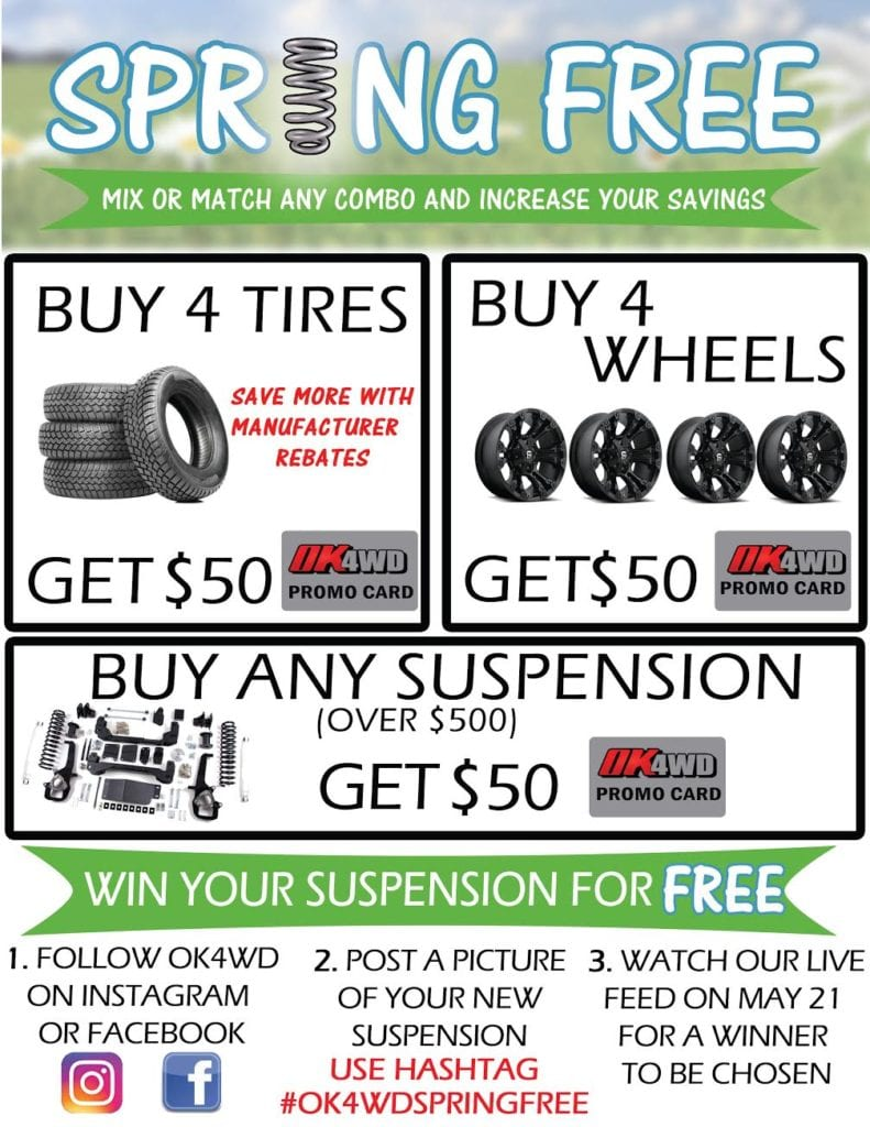 Promotion: Spring Free! Get Up To $150 Back + Win Your Suspension Kit